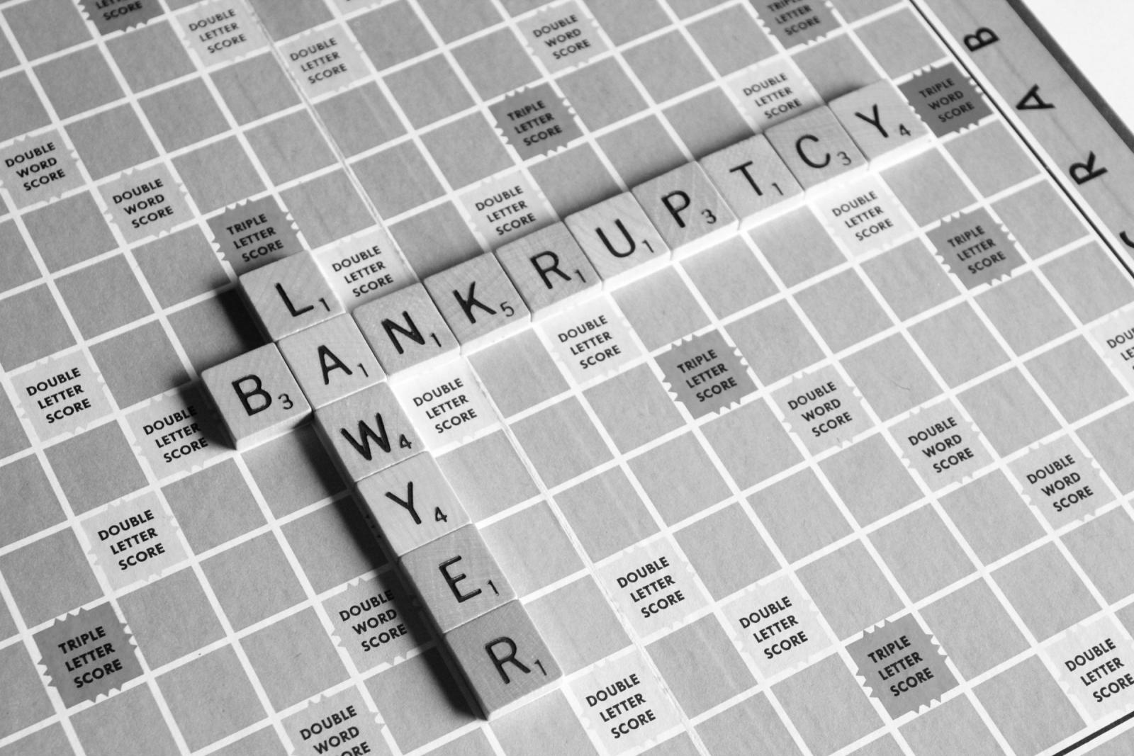 Bankruptcy Lawyer Scrabble Concept